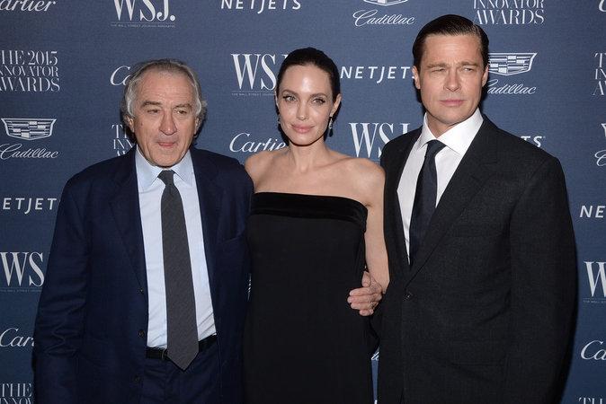 Robert De Niro, Angelina Jolie et Brad Pitt le 4 novembre 2015