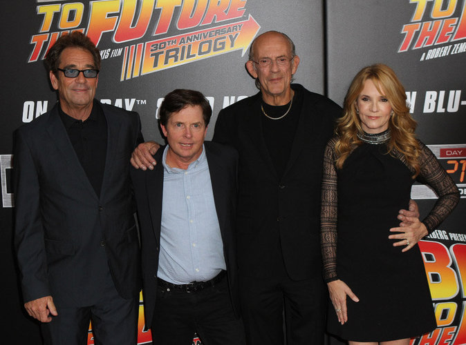 Huey Lewis, Michael J. Fox et Christopher Lloyd et Lea Thompson