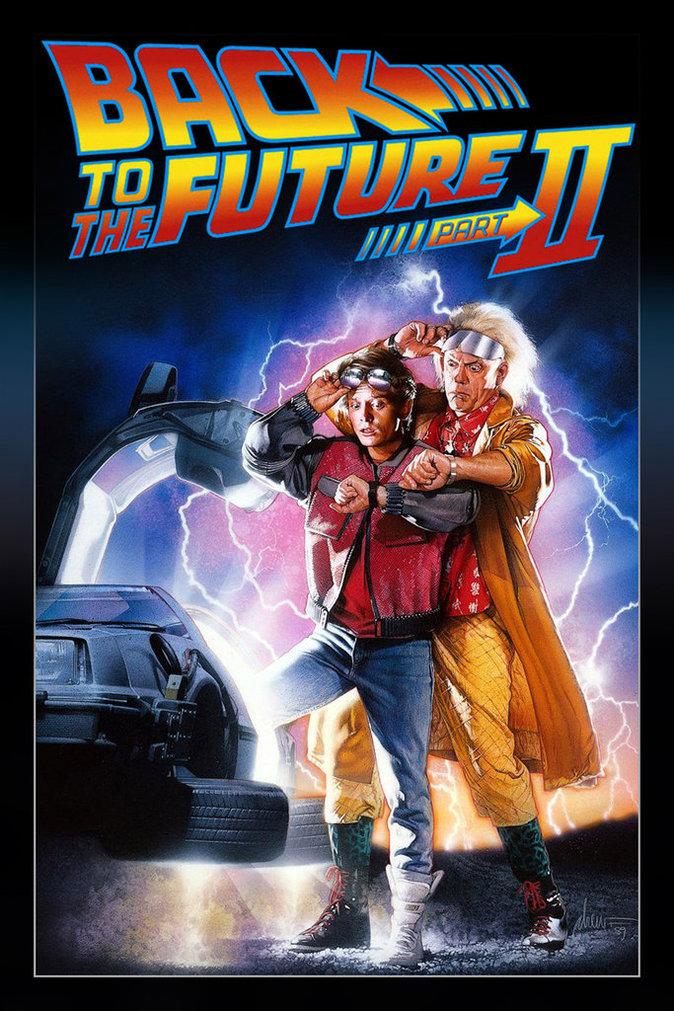 Affiche US de Retour vers le futur II