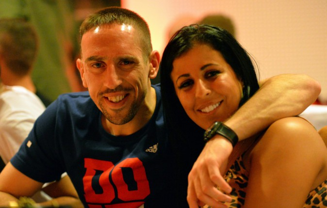 Franck Ribéry ret sa femme Wahiba, Octobre 2012