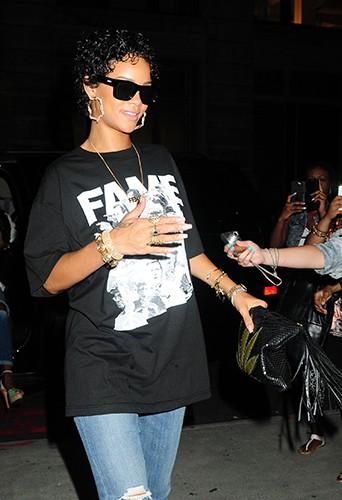 Rihanna à New-York le 12 août 2013