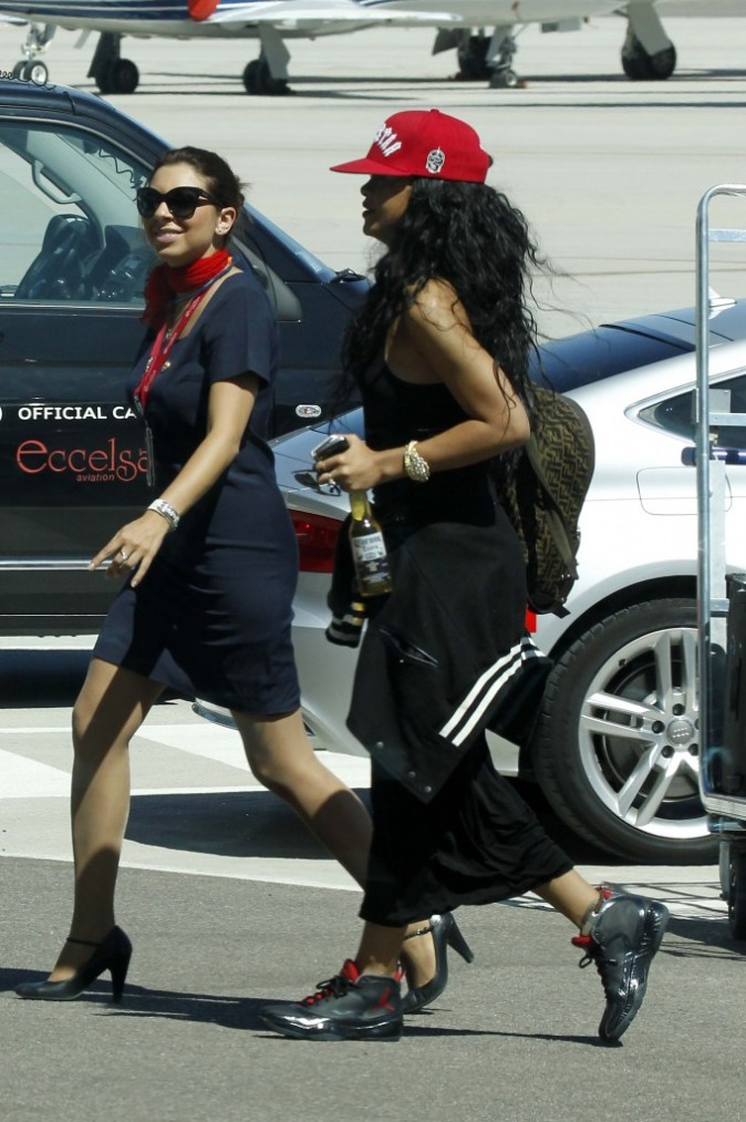 Rihanna en Sardaigne, le 15 juillet 2012.