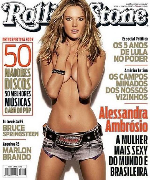 Alessandra Ambrosio pour Rolling Stone