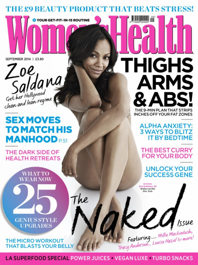 Zoé Saldana pour Women's Health