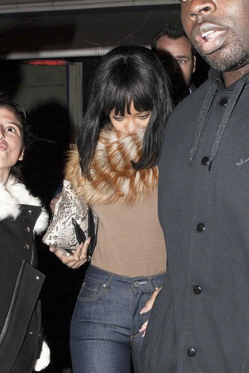 Rihanna à Paris le 23 février 2014