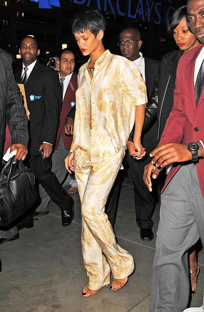 Rihanna au Barclays Center à Brooklyn pour l'inauguration du 40/40, le 27 septembre 2012.