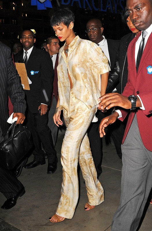 Rihanna au Barclays Center à Brooklyn pour l'inauguration du 40/40, le 27 septembre 2012.