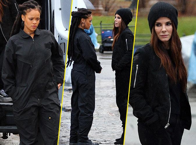 Rihanna : De retour sur le tournage de Ocean's Eight, elle vole la vedette à Sandra Bullock !