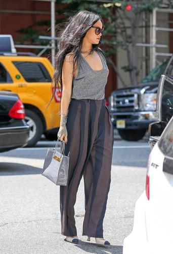 Rihanna à New York le 20 août 2014