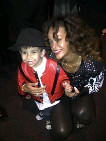 Avec un jeune fan de MJ !
