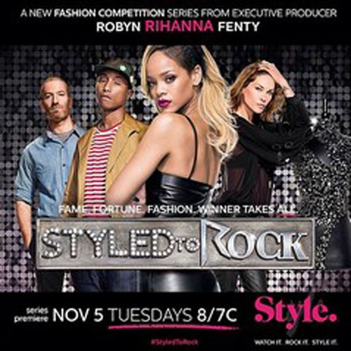 "Rihanna pour son émission ""Styled to Rock""."