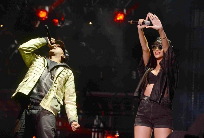 Jay-Z et Rihanna au festival d'Hackney le 23 juin 2012