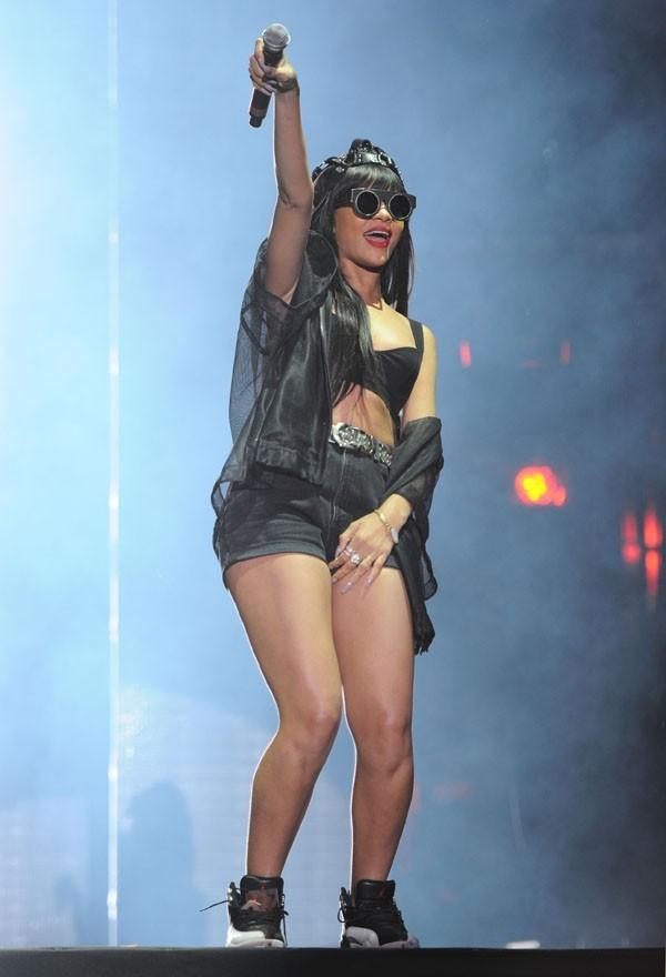 Rihanna au festival d'Hackney le 23 juin 2012