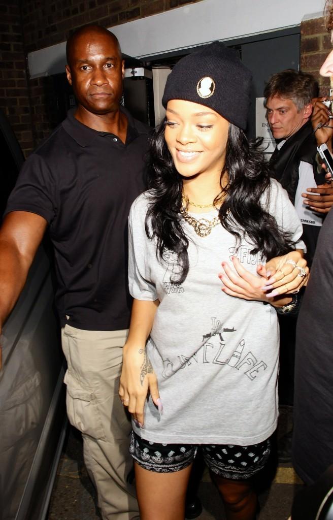 Rihanna à Londres, le 20 juin 2012.