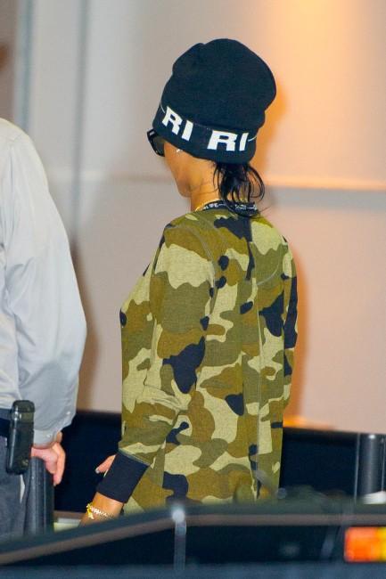 Rihanna à l'aéroport JFK, le 27 août 2013.