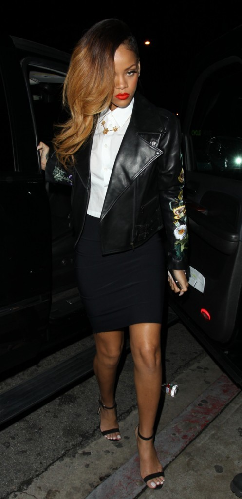 Rihanna à sonarrivée au Greystone Manor de West Hollywood le 20 janvier 2013
