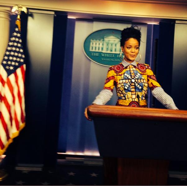 Rihanna : elle se prend pour Olivia Pope � la Maison Blanche !