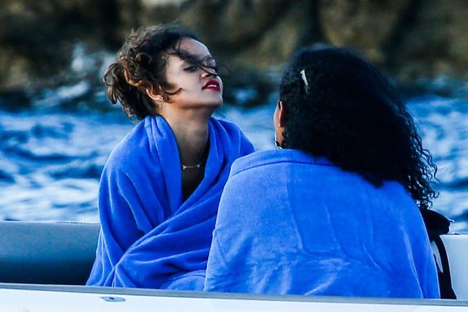 Rihanna au Cap d'Antibes le 3 septembre 2014