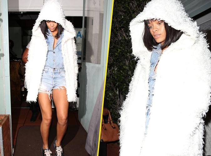 Photos Rihanna : en couple avec Drake ou non, la star fait profil bas dans les rues de LA !