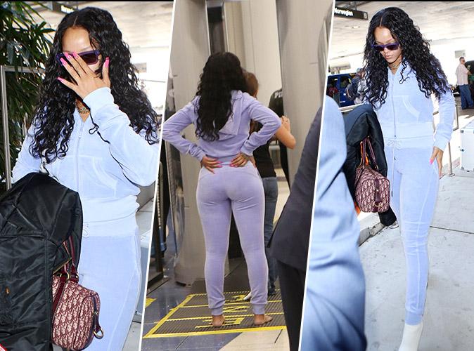 Rihanna : En forme, elle fait sensation à l'aéroport de Los Angeles