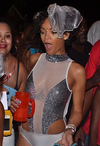 Rihanna à Bridgetown le 3 août 2013