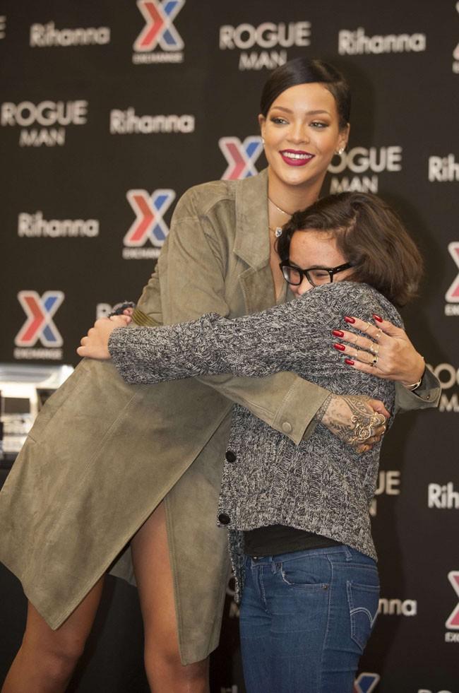 Rihanna en promotion pour Rogue Man à Fort Belvoir le 12 novembre 2014