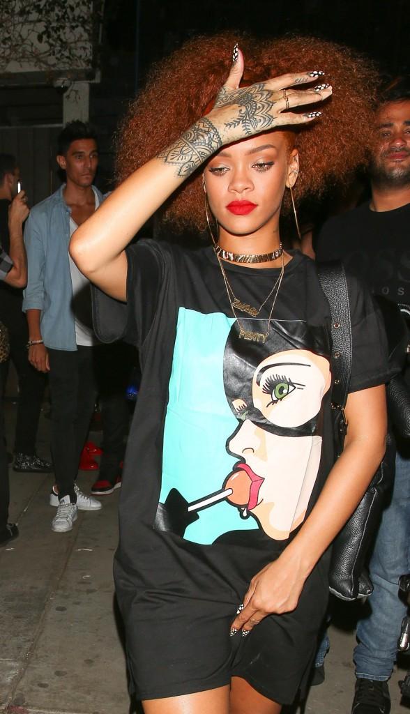 Rihanna quitte la soirée où elle a retrouvé Karim Benzema