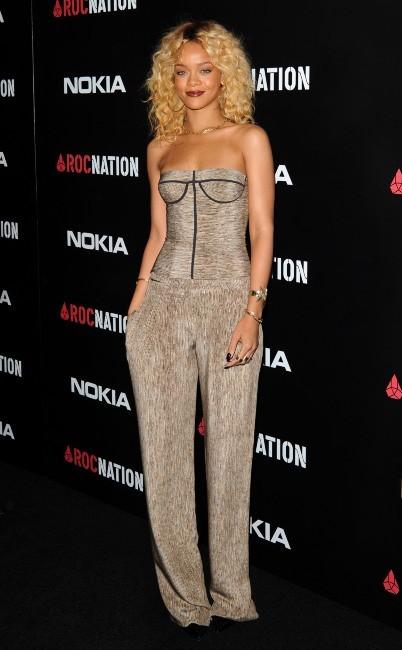 Rihanna lors du brunch pre-Grammy organisée par Roc Nation, le 11 février 2012