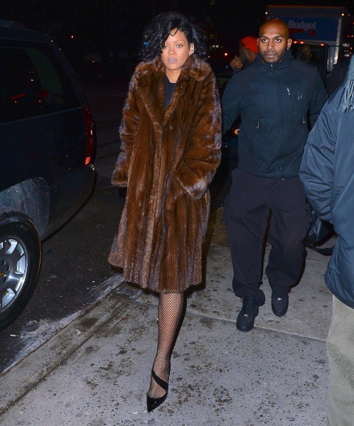 Rihanna à New York, le 18 décembre 2013.