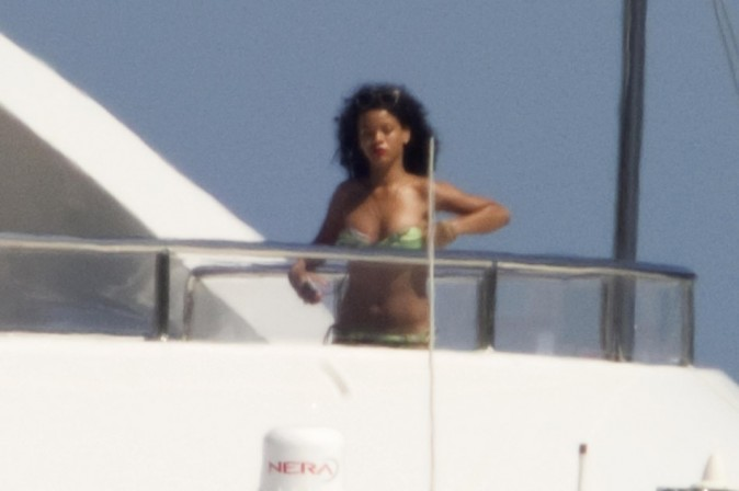 Rihanna le 16 juillet 2012 à Porto Cervo