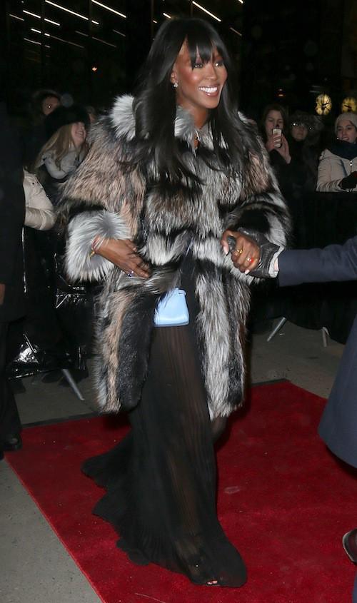 Naomi Campbell à l'ouverture du flagship Fendi à New York, le 13 février 2015