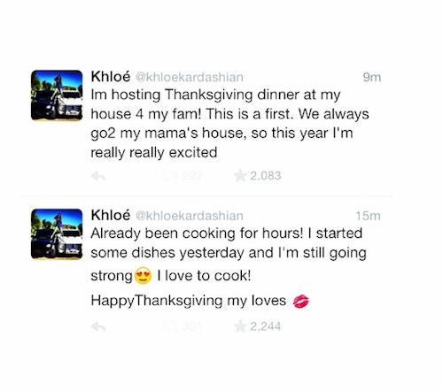 Thanksgiving 2014: Khloe Kardashian cuisine pour toute sa famille !