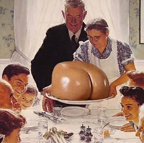 Thanksgiving 2014: Perez Hilton pense aux fesses de Kim Kardashian à la place de la dinde de Thanksgiving !