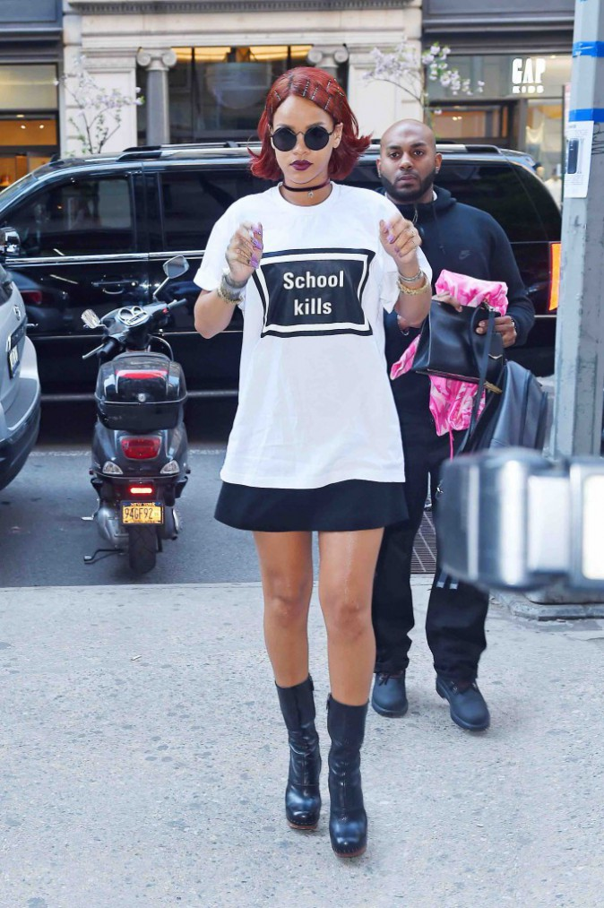 """Rihanna : l'école ? Visiblement c'est """"chiant à mourir"""" !"""