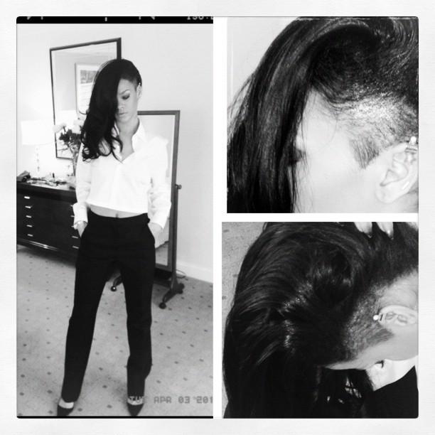 Rihanna ne se lasse pas de sa nouvelle coupe de cheveux !