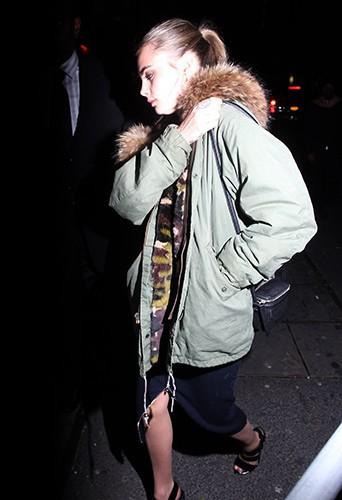 Cara Delevingne à New-York le 1er janvier 2014