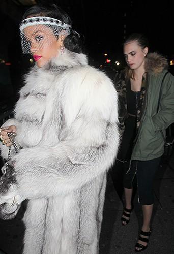 Rihanna et Cara Delevingne à New-York le 1er janvier 2014