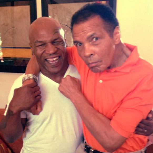 Mike Tyson et Mohamed Ali