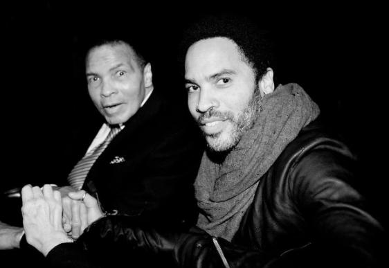 Mohamed Ali et Lenny Kravitz