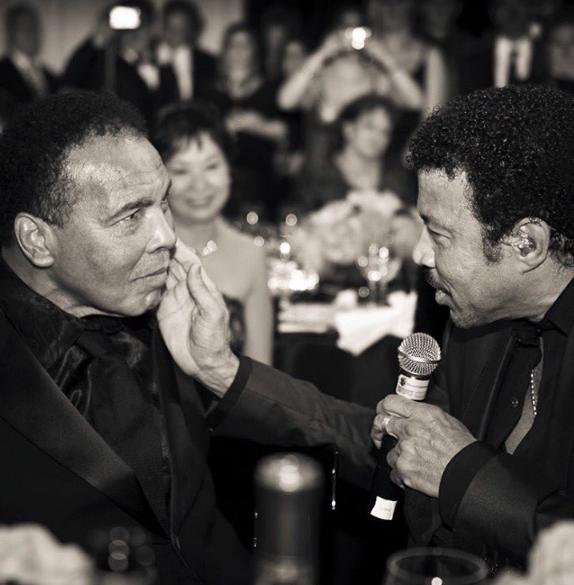 Mohamed Ali et Lionel Richie