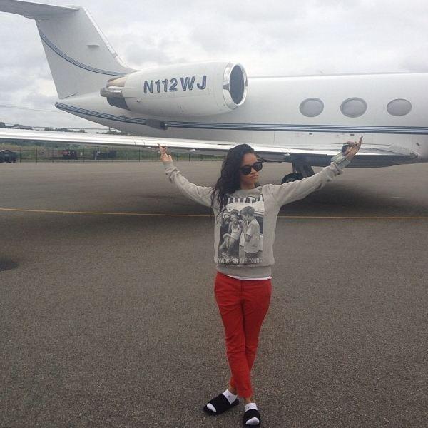 Rihanna préfère l'avion