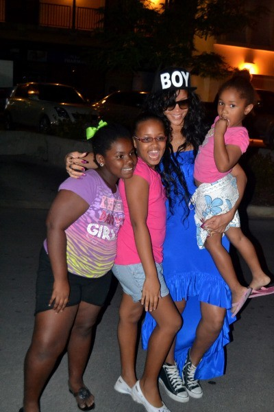 Rihanna à la Barbade, le 12 juillet 2012.