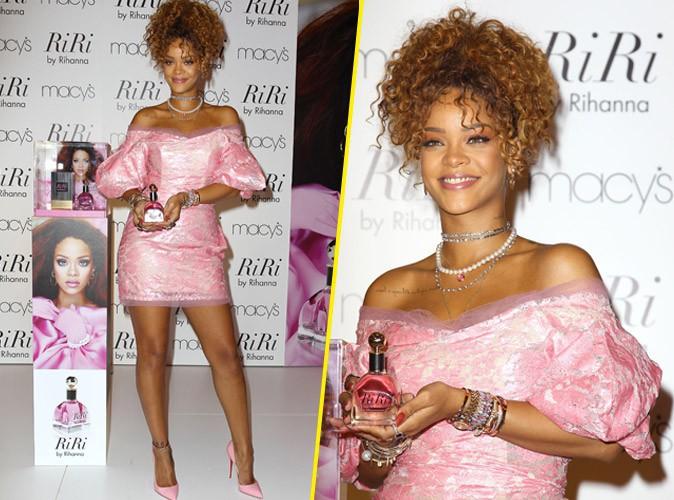 Rihanna, poup�e girly au look rat� pour son nouveau parfum !