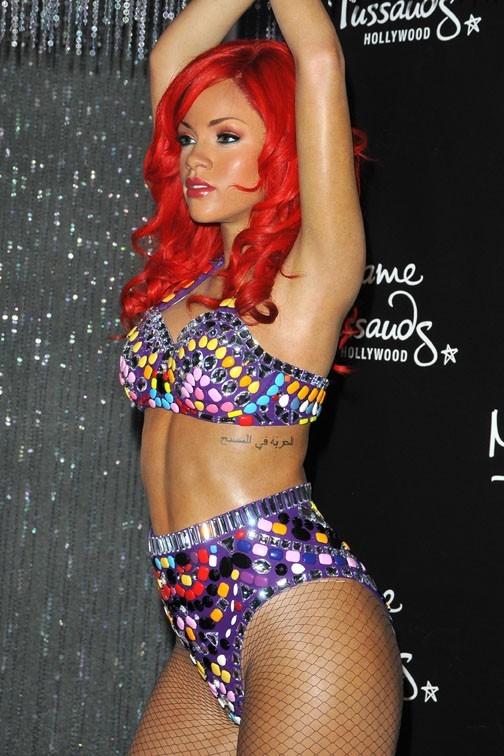 La nouvelle statue de cire de Rihanna au musée Madame Tussaud de Los Angeles...