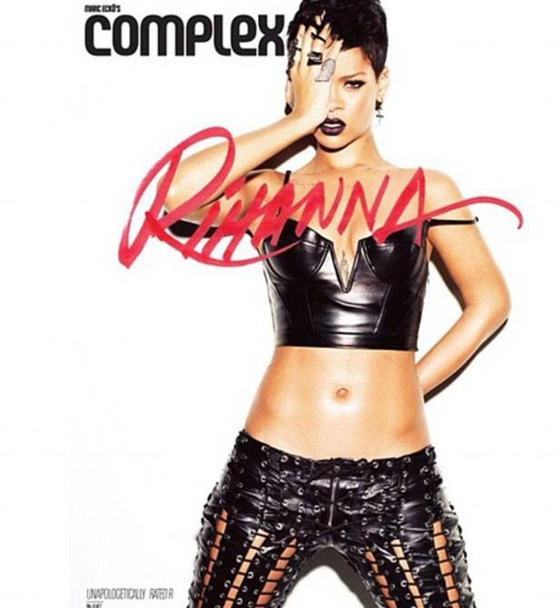 Rihanna en couverture du magazine Complex, pour Rated R