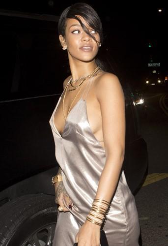 Rihanna au Giorgio Baldi le 10 août 2014
