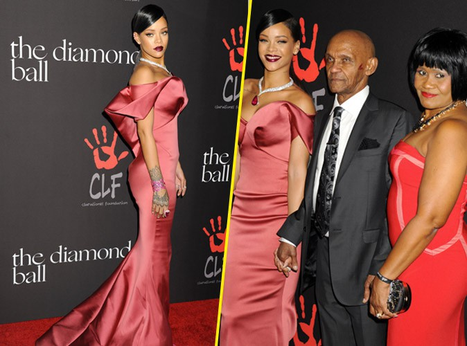 Rihanna : sublime et en famille pour son premier Diamond Ball !