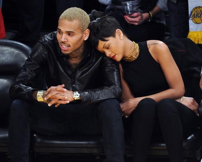 Rihanna et Chris Brown le 25 décembre 2012 à Los Angeles