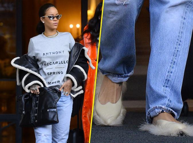 Photos : Rihanna : un look au poil !