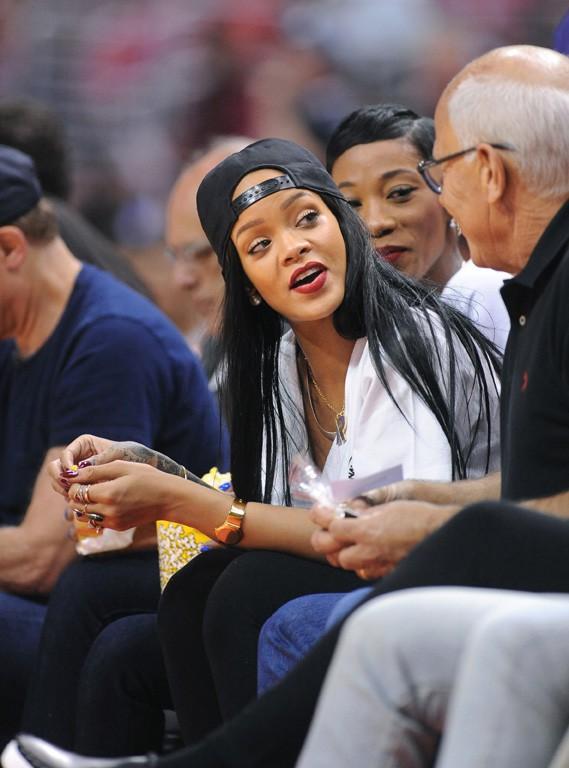 Rihanna au Staples Center de Los Angeles le 9 mai 2014